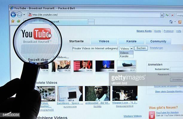 Homepage Website of YouTube