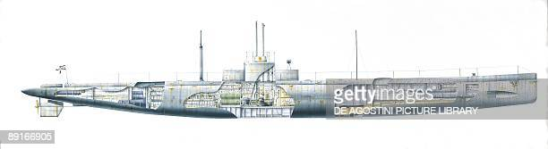 Germany Imperial Navy U9 submarine illustration