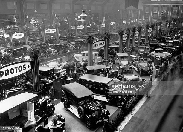 Germany International Motor and MotorCycle Show Berlin 1926 cars in the exhibition hall 1926 photo by Walter Gircke