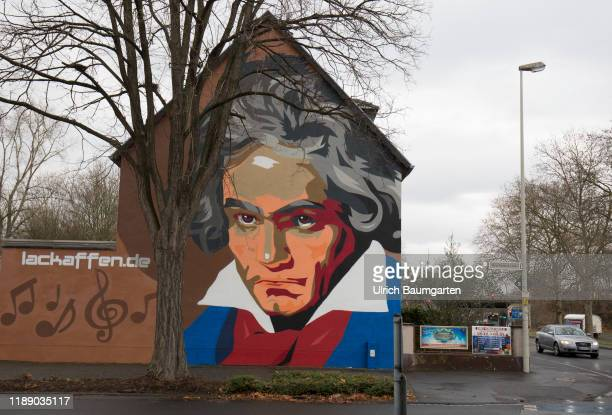 Germany is starting into the BeethovenYear with more than 700 events to celebrate the 250th anniversary of Ludwig van Beethoven's birth Bonn facades...