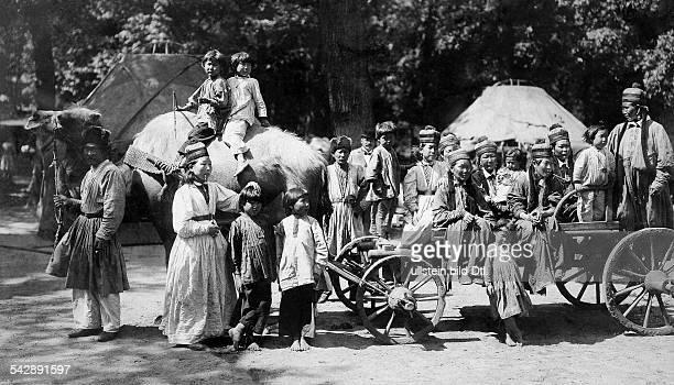 Germany, Kalmyk people in the Berlin Zoo, probably 1897