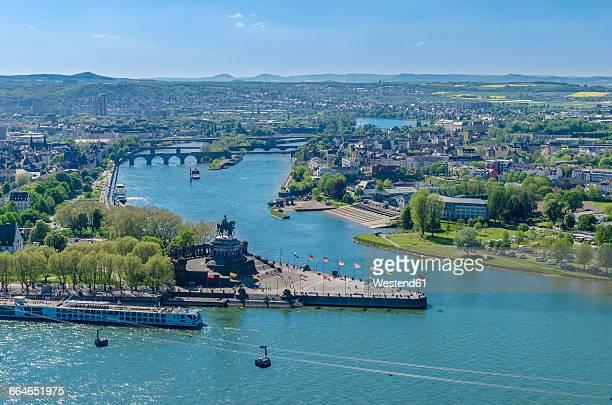 Germany, Koblenz, view of German Corner