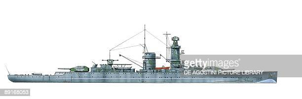 Germany Kriegsmarine Pocket battleship Admiral Graf Spee illustration
