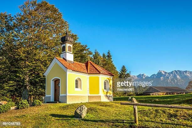 Germany, Kruen, Chapel Maria Rast on hump-meadow at Way of St. James