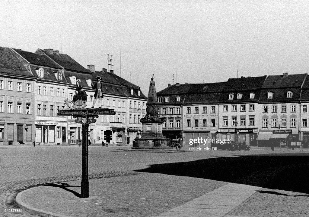Germany Kuestrin Kostrzyn Nad Odra Market Place 1930s