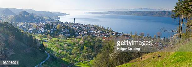 germany, lake constance, sipplingen, panoramic view - bodensee stock-fotos und bilder