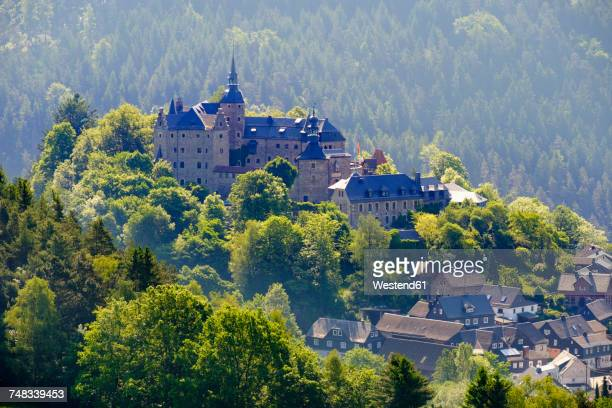 Germany, Lauenstein village, view to Lauenstein castle