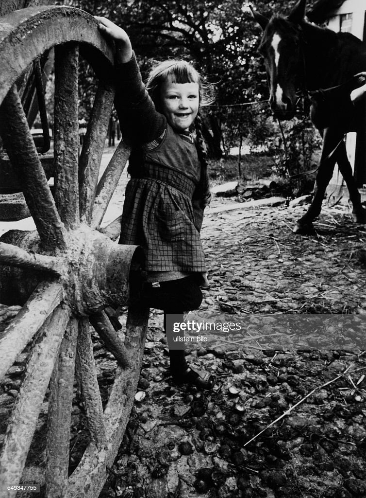 Germany, childhood in the village : News Photo