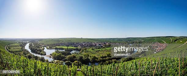 Germany, Lower Franconia, Main river loop near Volkach