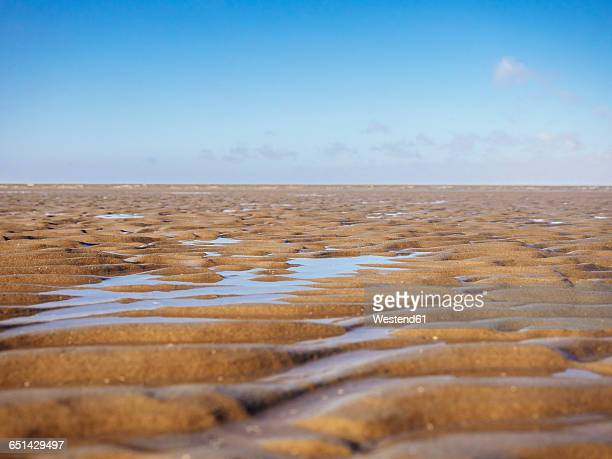 Germany, Lower Saxony, Cuxhaven, Wadden Sea during low tide