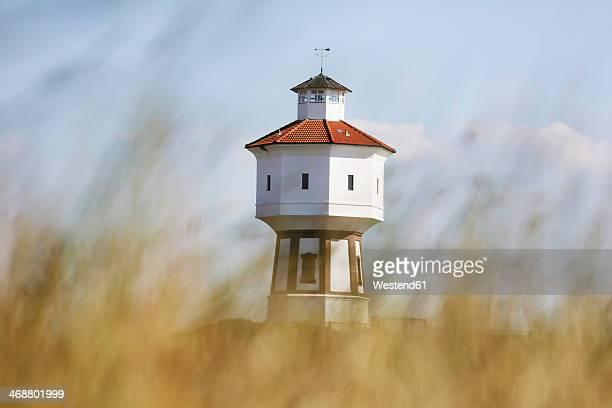 germany, lower saxony, east frisia, langeoog, water tower - insel langeoog stock-fotos und bilder