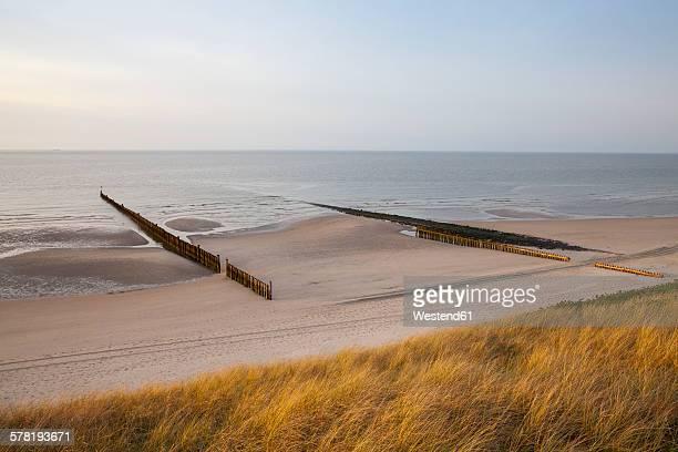 Germany, Lower Saxony, East Frisia, Wangerooge, North Sea Coast, beach and breakwater
