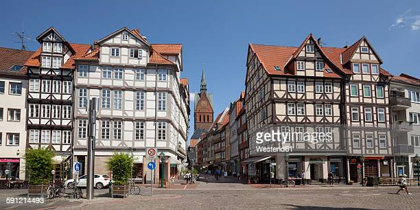 Germany, Lower Saxony, Hannover, Half timbered houses in the old town