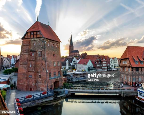 germany, lower saxony, lueneburg, old town, - lüneburg stock photos and pictures