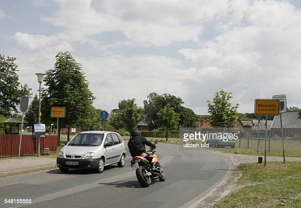Germany Lower Saxony - the former GDR border through the village Zicherie and Boeckwitz