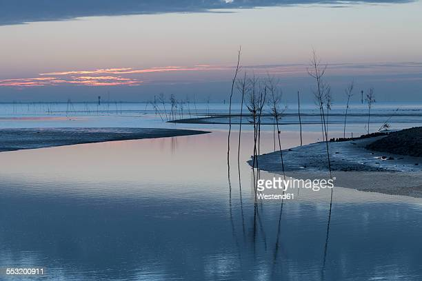 Germany, Lower Saxony, Wremen, Tidal creek at North Sea