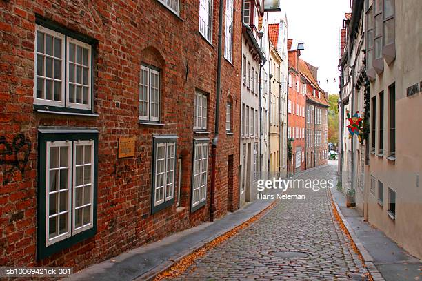 Germany, Lubeck, alley in old town