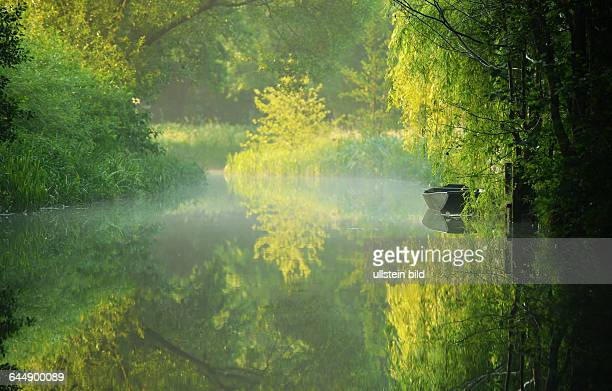 The Spreewald an area of many branches of the Spree originated in the ice age is a unique biosphere reserve by UNESCO