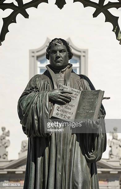 Germany, Lutherstadt Wittenberg, monument of Martin Luther