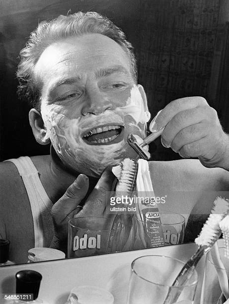 Germany man shaving