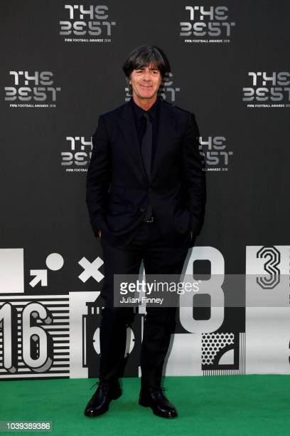 Germany Manager Joachim Low arrives on the Green Carpet ahead of The Best FIFA Football Awards at Royal Festival Hall on September 24 2018 in London...