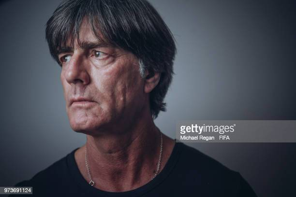 Germany manager Joachim Low poses during the official FIFA World Cup 2018 portrait session on June 13 2018 in UNSPECIFIED Russia