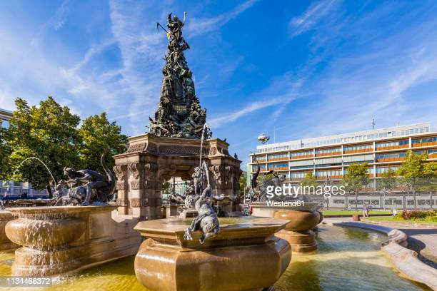 Germany, Mannheim, fountain with Grupello Pyramid at Paradeplatz