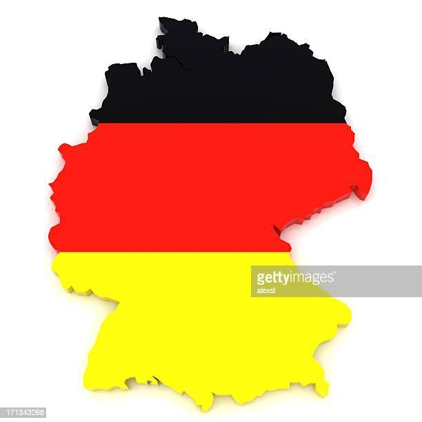deutschland-karte - contour stock-fotos und bilder