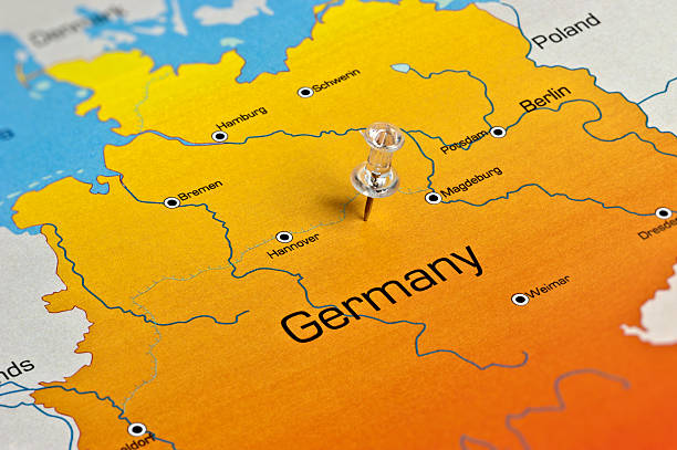germany map - germany stock pictures, royalty-free photos & images
