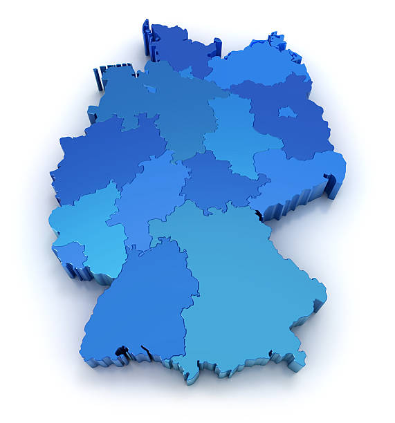 germany map with states - germany stock pictures, royalty-free photos & images