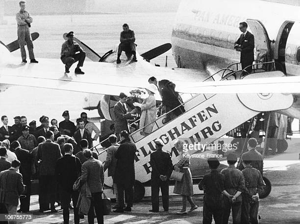 Germany Marlene Dietrich At Her Arrival At Hamburg Airport May 6Th 1960