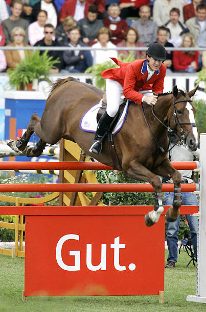 McLain Ward of the US jumps on her horse Pictures | Getty Images