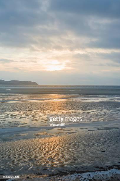 Germany, Mecklenburg-Western Pomerania, Ruegen, Sunset at Middelhagen