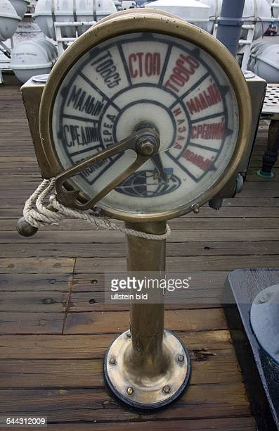 Germany MecklenburgWestern Pomerania sailing ship Gorch Fock russian engine telegraph the owner of the ship was the Sowjet Union from 1951 to 2003