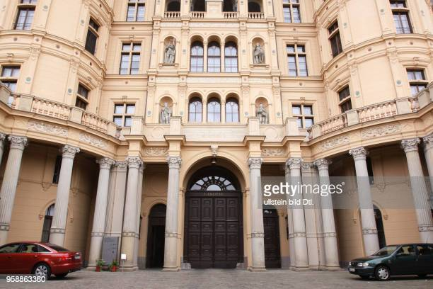 Germany MecklenburgWestern Pomerania Schwerin entrance of the parliament of MecklenburgWestern Pomerania in the Palais