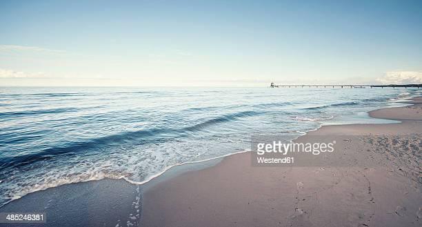 Germany, Mecklenburg-Western Pomerania, Usedom, waves on the beach