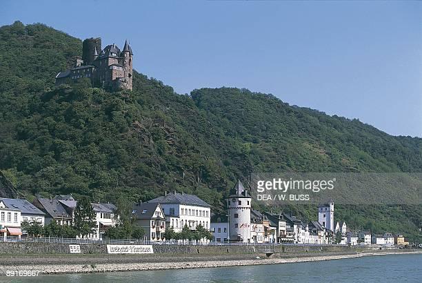 Germany Middle Rhine Valley Katz Castle in Sankt Goarshausen