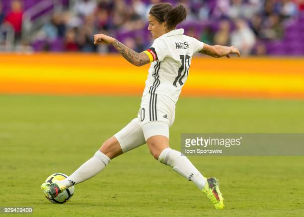 Germany midfielder Dzsenifer Marozsán during the SheBelieves Cup between Germany and France on March 7th 2017 at Orlando City Stadium in Orlando FL