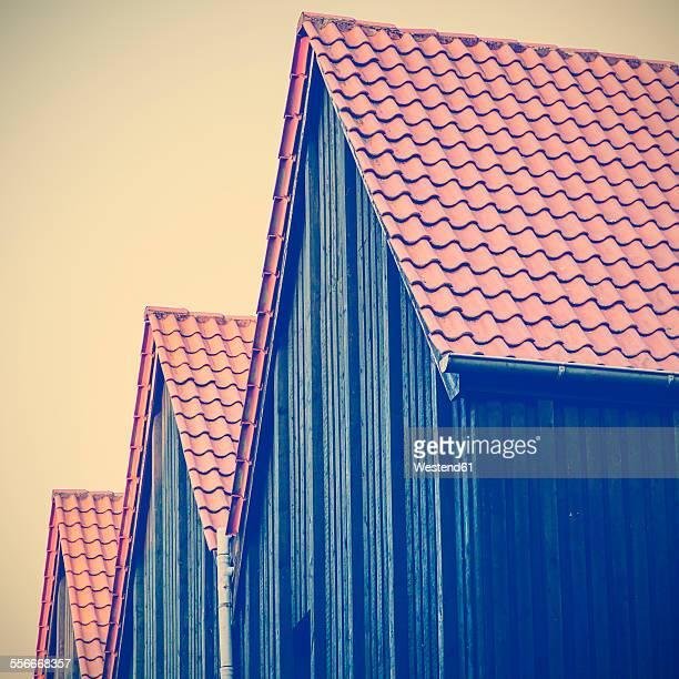 Germany, Minden, row of three frame houses