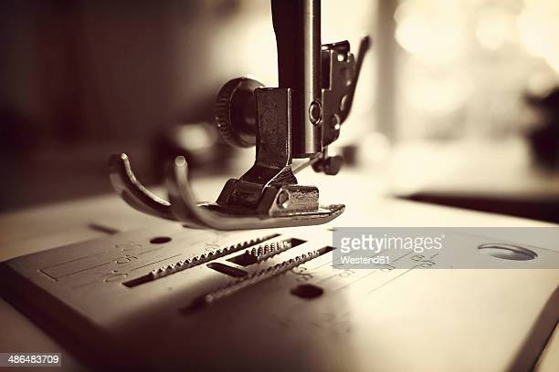 Germany, Minden, sewing machine, close up