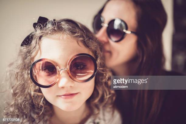 Germany Mother and Daughter with big sunglasses