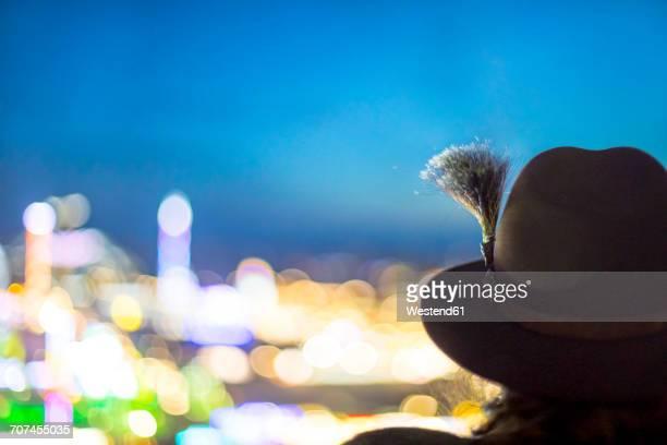 germany, munich, back view of man wearing hat with gamsbart at oktoberfest - tradition stock-fotos und bilder
