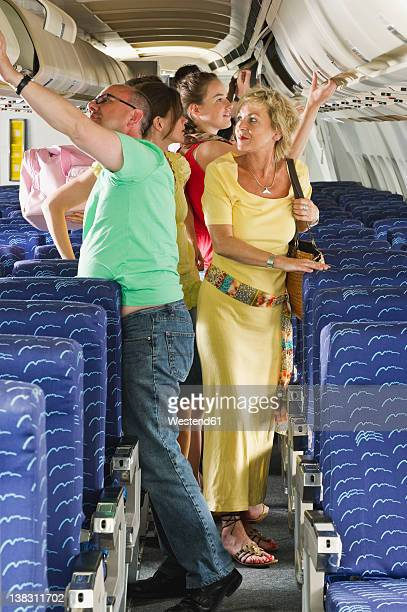 Germany, Munich, Bavaria, Passengers getting out from economy class airliner