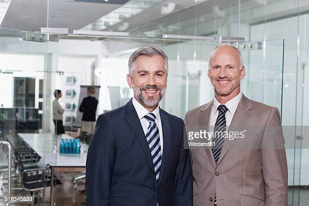 Germany, Munich, Businessmen in office
