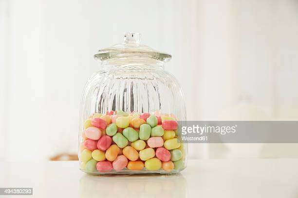 Germany, Munich, Candy jar on table