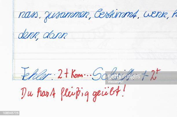 Germany, Munich, Exercise book, close up