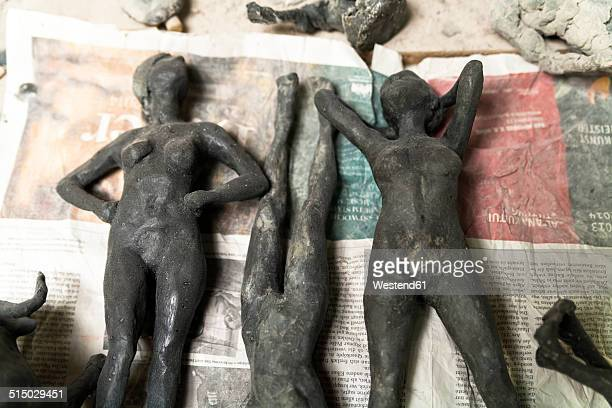 Germany, Munich, Sculptures in art foundry
