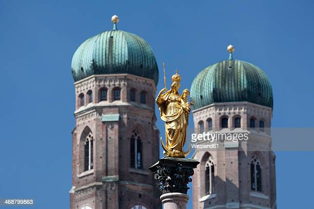 Germany, Munich, St Mary's column and Church of our Lady
