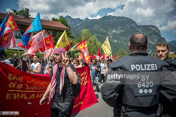 Thousands of demonstrator protest against the G7 summit that will be place in Schloss Elmau in 7-8 june 2015