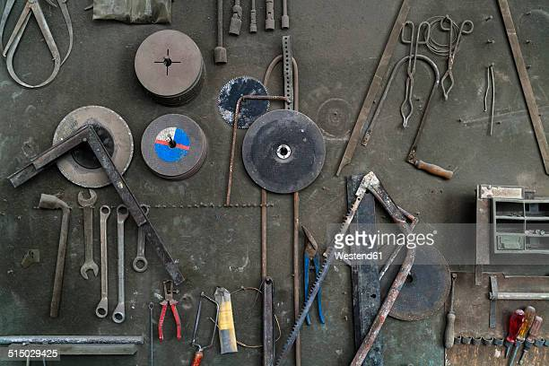 Germany, Munich, Tools in art foundry